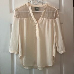 Anthropologie Ivory Top size 0